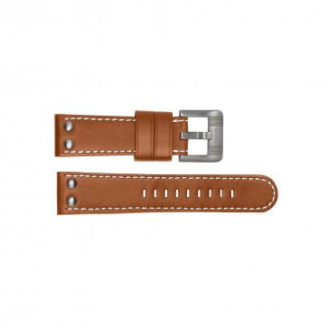 TW Steel Uhrenarmband TWB19 Leder Braun 24mm + weiße nähte