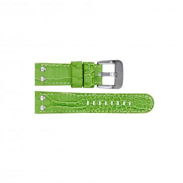 TW Steel Uhrenarmband TWB32 Leder Grün 22mm + weiße nähte