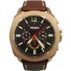 Uhrenarmband Fossil BQ2032 Leder Braun 24mm