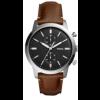Uhrenarmband Fossil FS5394SET Leder Braun 22mm