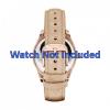 Uhrenarmband Fossil ES3104 Leder Beige 18mm