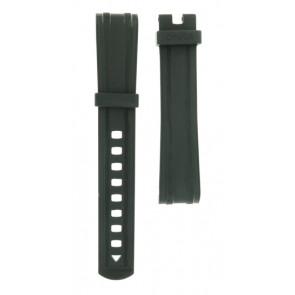 Uhrenarmband Omega 21032422001001 Silikon Schwarz 20mm