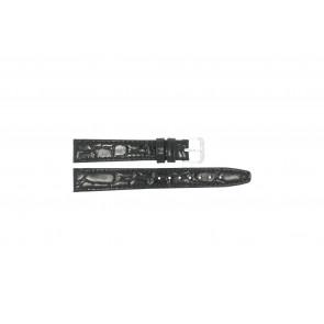 Uhrenarmband Condor 082R.01 Leder Schwarz 12mm