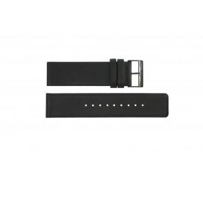 Uhrenarmband Obaku 116-Z Leder Schwarz 24mm