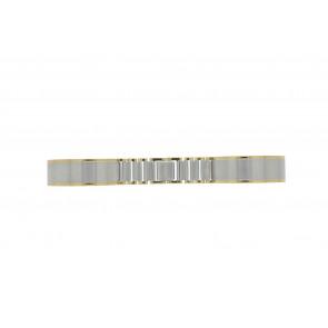 Uhrenarmband 16BI Metall Silber 16mm