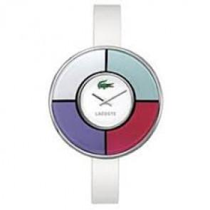 Uhrenarmband Lacoste 2000608 / 2000579 / LC-37-3-29-2210 Leder Weiss 10mm