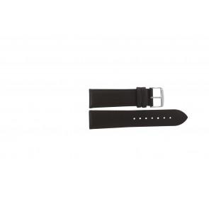 Echtes Leder Uhrenarmband dunkelbraun 22mm 283