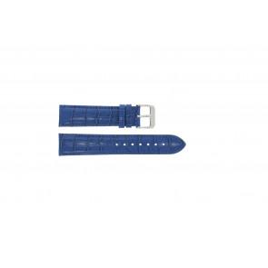 Uhrenarmband Universal 285.05 Kroko leder Blau 18mm