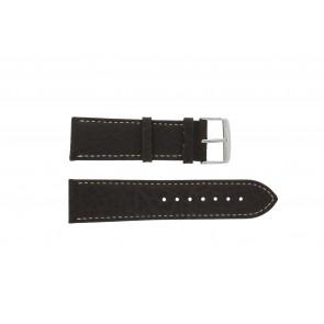 Uhrenarmband 307.02 XL Leder Braun 20mm + weiße nähte