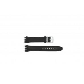 Uhrenarmband Swatch (alt.) 51643.01.17 Leder Schwarz 17mm
