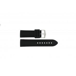 Uhrenarmband 5809.24 Silikon Schwarz 24mm