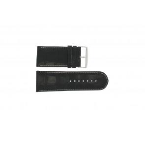 Uhrenarmband Universal 61324.32Z Leder Schwarz 32mm