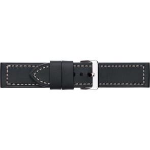 Uhrenarmband Universal 644R.01 Leder Schwarz 24mm