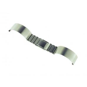 Uhrenarmband Spange 16ST Metall Silber 16mm