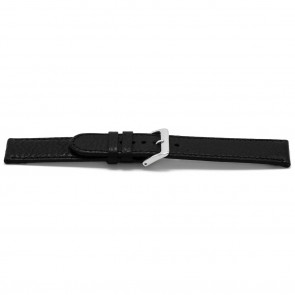 Uhrenarmband Universal B113 Leder Schwarz 10mm