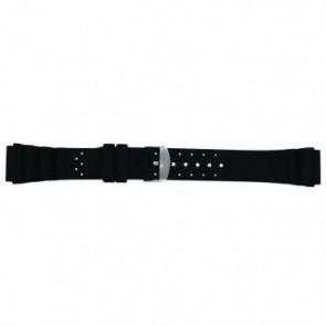 Uhrenarmband Universal SL100 Silikon Schwarz 18mm