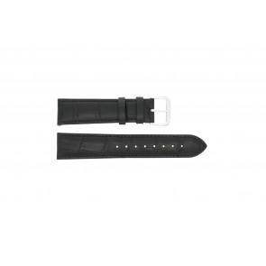 Uhrenarmband Condor 305L.01.12 XL Leder Schwarz 12mm