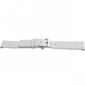 Uhrenarmband Universal F520 Leder Weiss 18mm