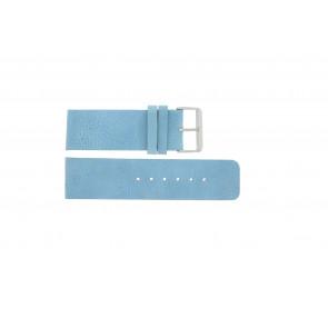 Uhrenarmband Universal J625 Leder Blau 26mm
