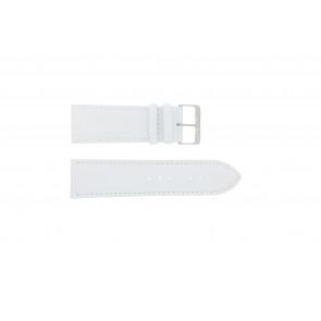 Echtes Leder Uhrenarmband weiß 30mm