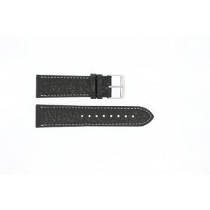 Uhrenarmband Universal 307L.01 XL Leder Schwarz 24mm