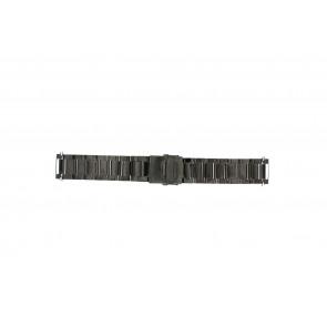 Uhrenarmband QQ24ZWR- Metall Anthrazitgrau 24mm