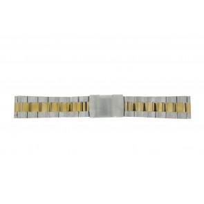 WoW Uhrenarmband 1014.24 Metall Zweifarbig 24mm