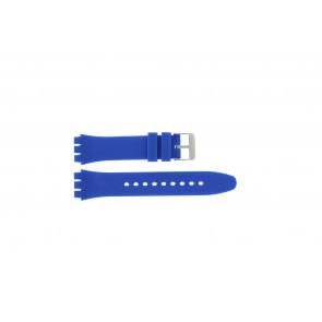 Tzevelion Uhrenarmband Tzev-SW Silikon Blau 18mm