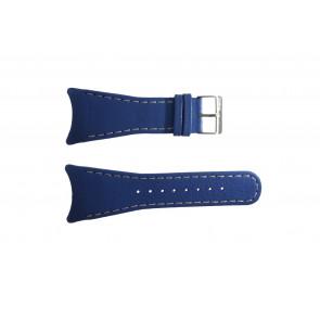 Uhrenarmband Obaku V109 Leder Blau