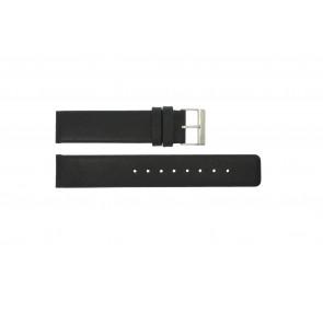 Uhrenarmband Obaku V112 Leder Schwarz 20mm