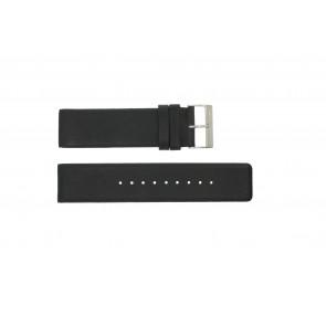 Uhrenarmband Obaku V116 Leder Schwarz 24mm