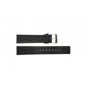 Uhrenarmband Obaku V122 Leder Schwarz 20mm