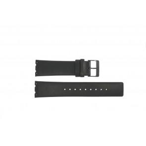 Uhrenarmband Obaku V137 Leder Schwarz 23mm