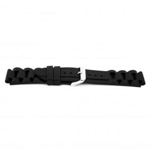 Uhrenarmband Gummi 18mm Schwarz EX K6 32 61 18