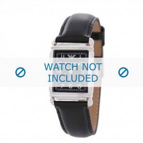Uhrenarmband Armani AR0207 / AR0101 / AR0121 / AR5601 / AR0604 Leder Schwarz 18mm