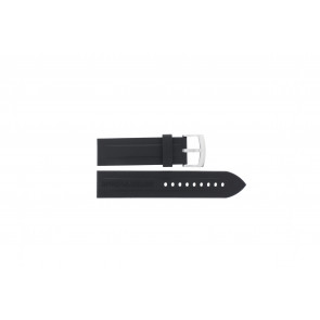 Uhrenarmband Armani AR0527 / AR5826 / Vanille Silikon Schwarz 23mm