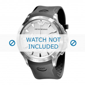 Uhrenarmband Armani AR0634 / AR0631 Silikon Schwarz 23mm