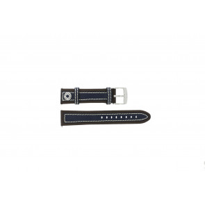 Camel Uhrenarmband 3120-3129 / 3520-3529 Leder Braun 22mm + weisßen Nähten