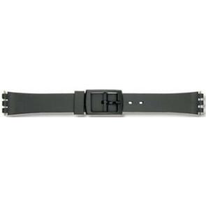 Swatch Uhrenarmband P38 Kunststoff Schwarz 12mm