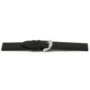 Uhrenarmband Leder schwarz 16mm EX-E129