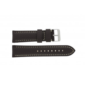 Uhrenarmband Universal H038 XL Leder Dunkelbraun 22mm