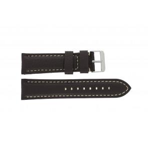 Uhrenarmband Universal G038 XL Leder Dunkelbraun 20mm