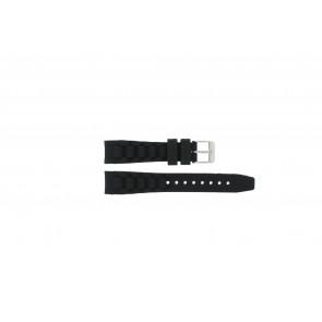 Garonne Uhrenarmband KQ13Q419 Kunststoff Schwarz 15mm