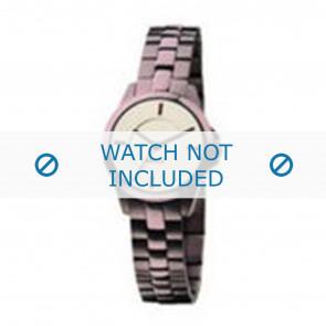 Mexx Uhrenarmband  Metall Lila 14mm