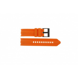 Uhrenarmband Nautica A17586G Kautschuk Orange 24mm