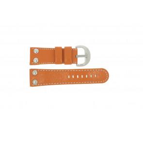 Uhrenarmband Universal OVR-ORANJE-28MM Leder Orange 28mm