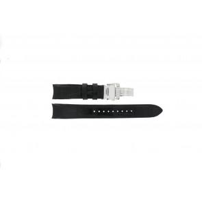Uhrenarmband Seiko 7D48-0AA0 / 7T62-0FF0 / SNP005P1 / 4KK6JZ / 34H6JZ Leder Schwarz 20mm