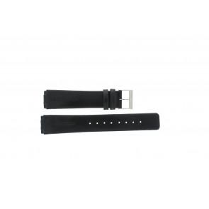 Uhrenarmband Skagen 433LSLC Leder Schwarz 18mm