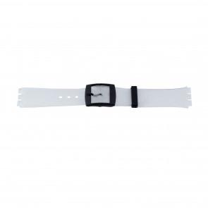 Uhrenarmband Swatch 51.00 Kautschuk Weiss 17mm