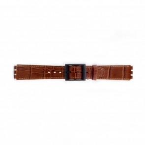 Uhrenarmband Swatch (alt.) SC16.03 Leder Braun 16mm